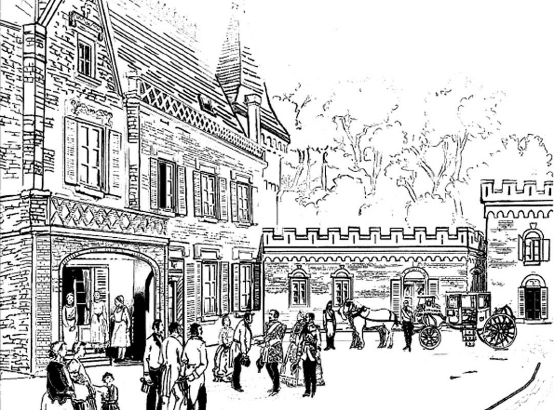 Drawing, Sologne hotel, Château les Muids