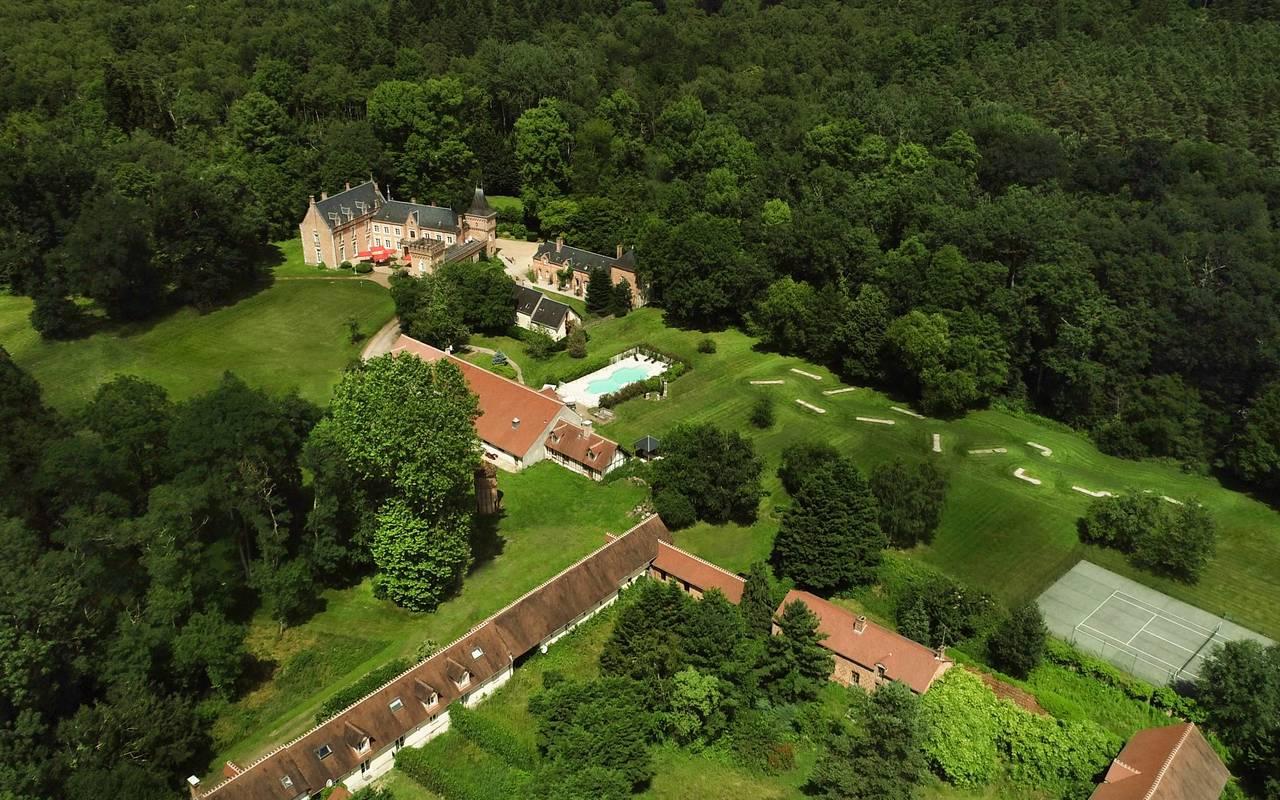 Castle hotel near Orleans, Château les Muids