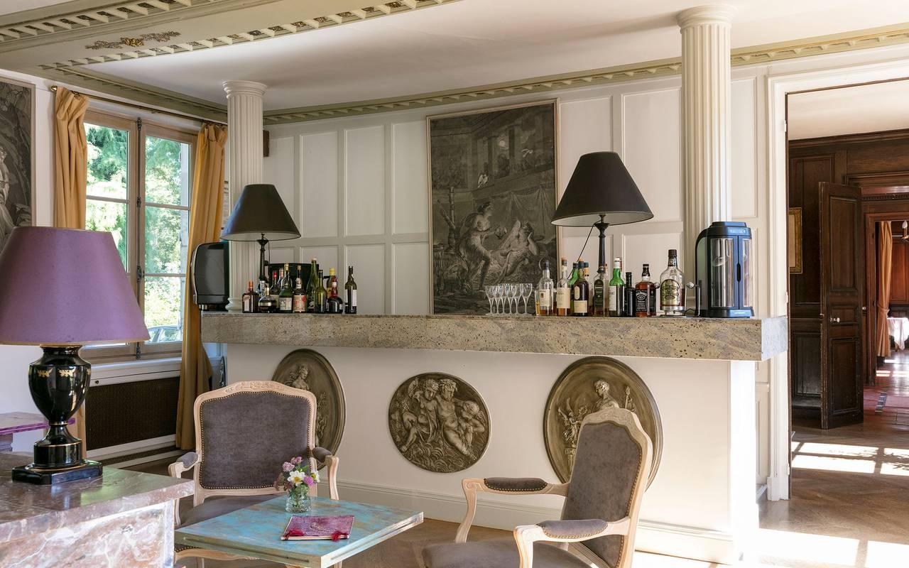 Bar, hotel Sologne, Château les Muids