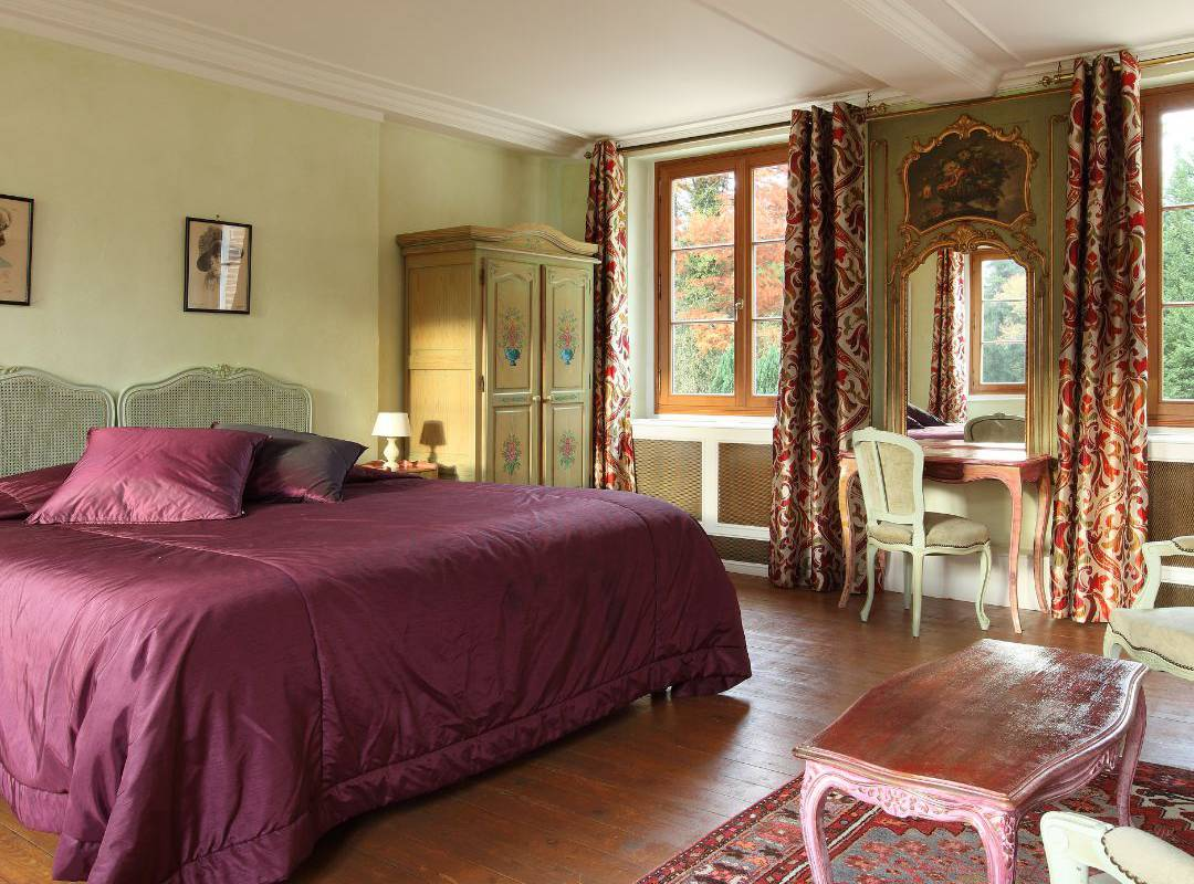 Chambre de château hôtel en Sologne