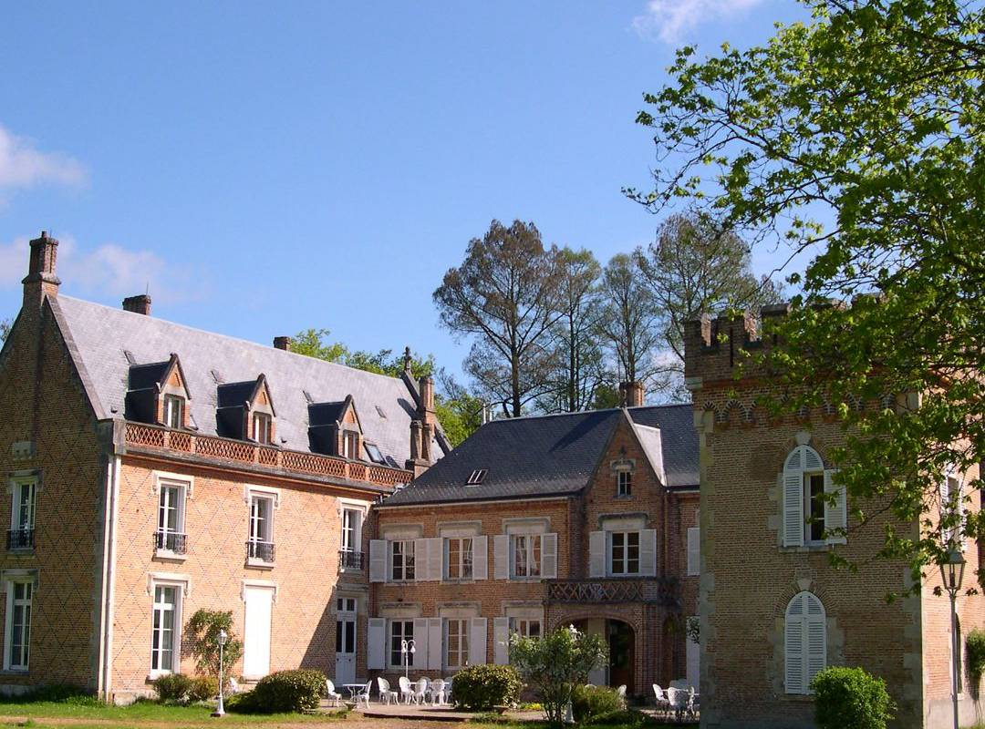 Facade chateau hotel en Sologne