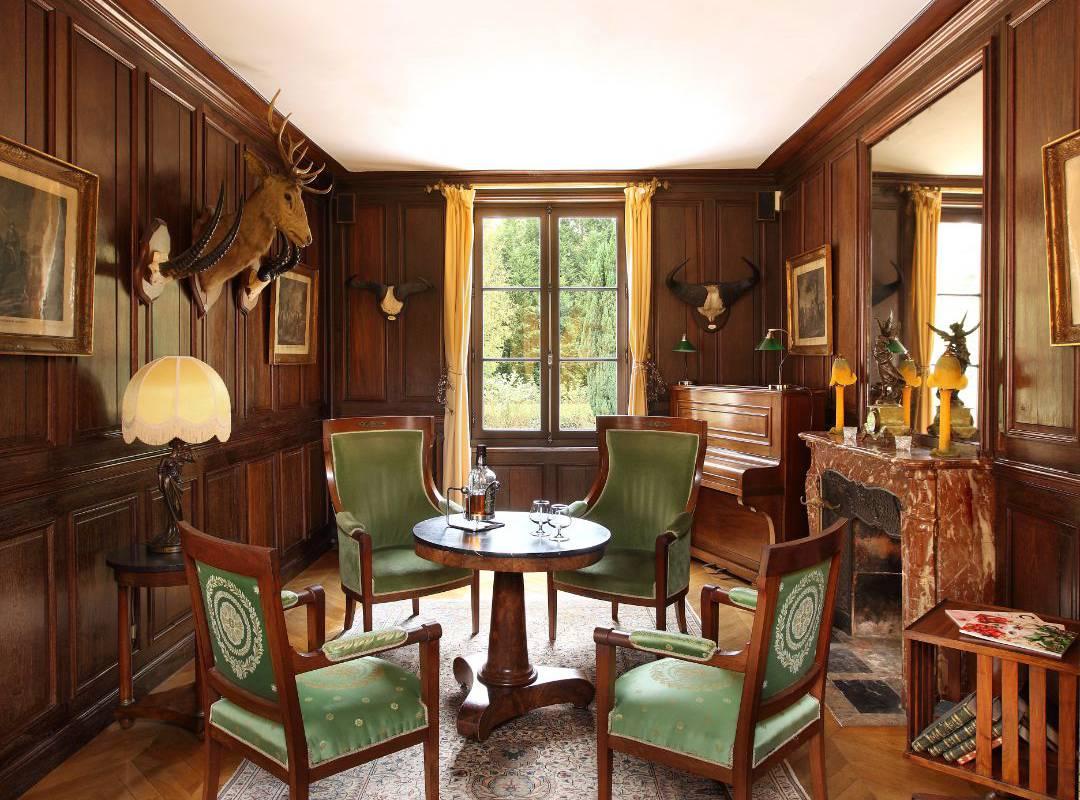 salon d'hotel de charme Château le Muids