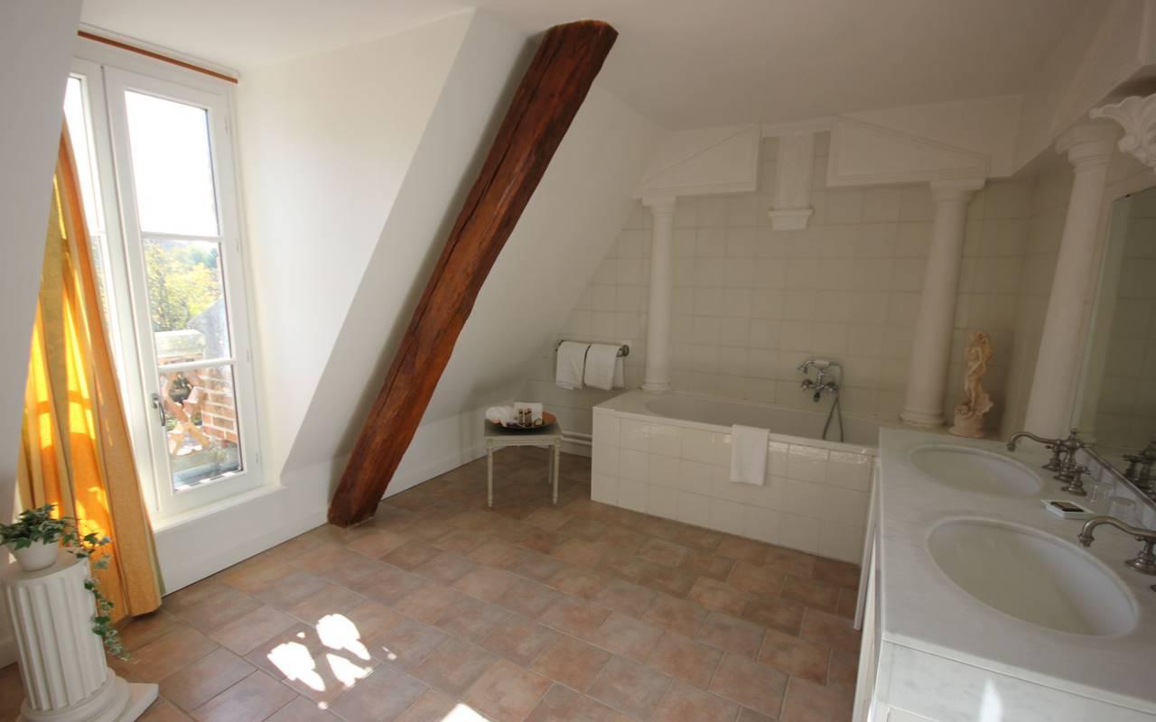 Chambre charme d'un hotel 4 étoiles en Sologne, Château les Muids