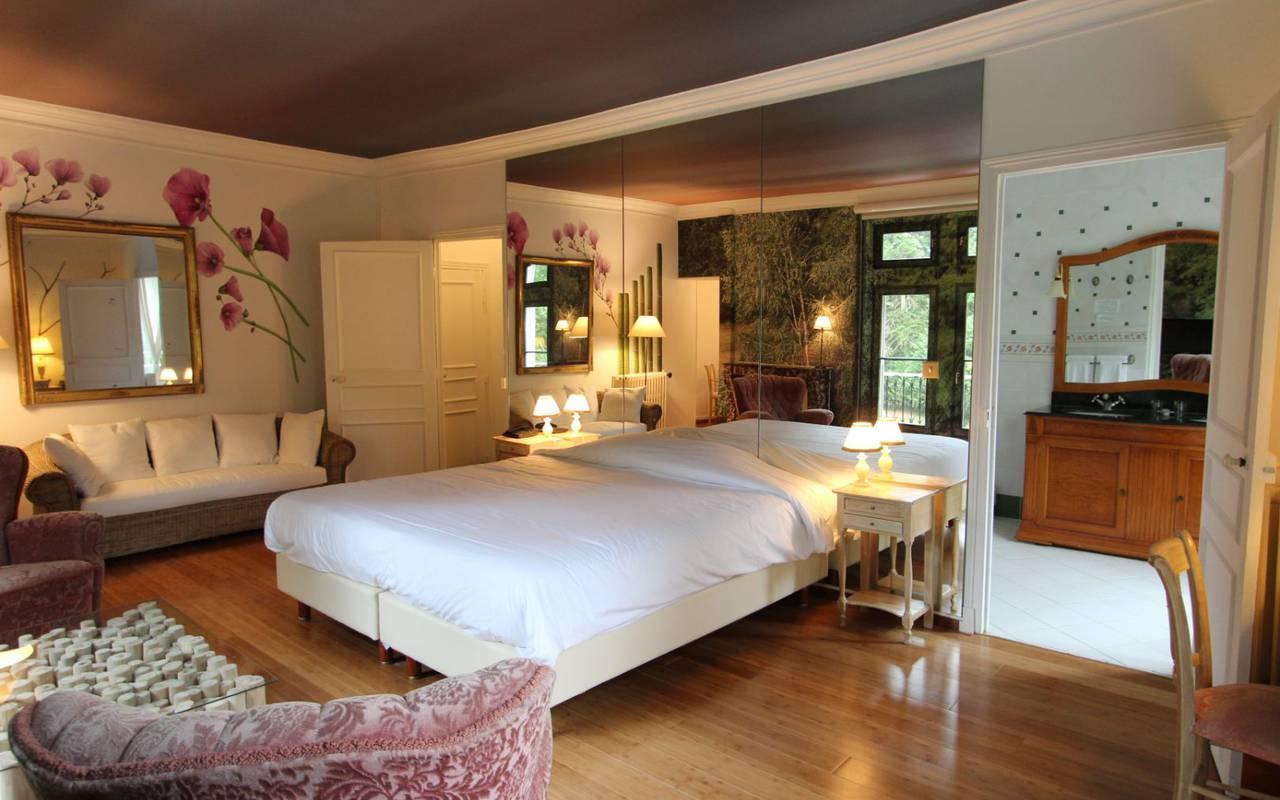 Chambre supérieur chateau hotel en Sologne