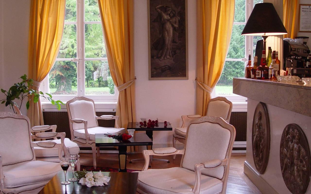 Bar de l'hôtel du château les Muids en Sologne