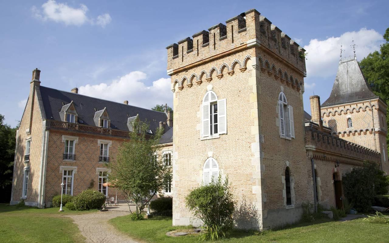 Tour d'un chateau hotel en Sologne