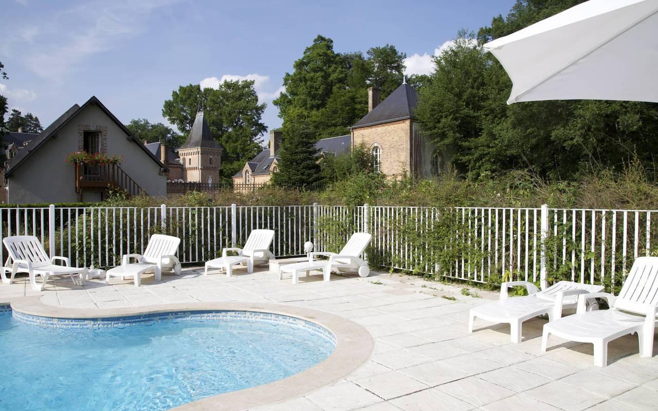 hotel avec piscine en sologne