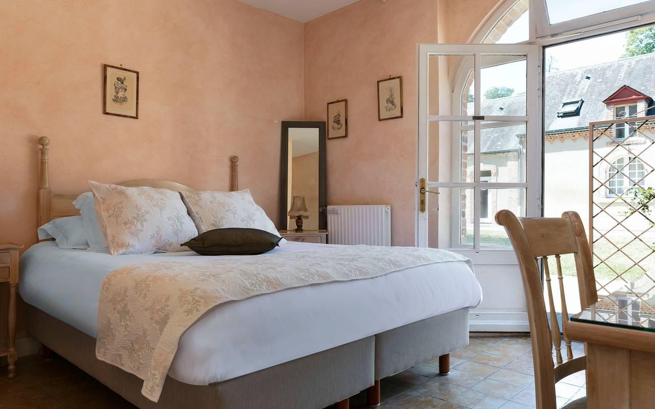 Chambre chic, hôtel Sologne, Château les Muids